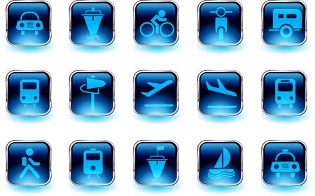 rectangluar: Transportation and Vehicle icons