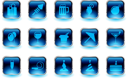 rectangluar: Party and Celebration icons