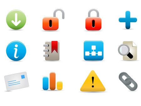 website and internet icons on white background Stock Vector - 8037198