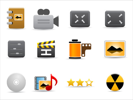 Media and Publishing icons  set on white background Vector