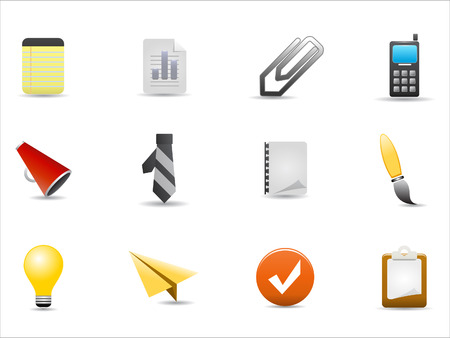 office icons set on white background