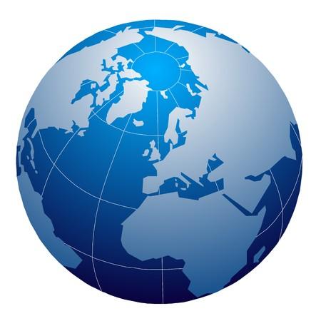 west europe: globe icons Stock Photo
