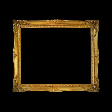Old gold wooden frame  photo