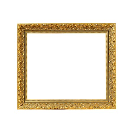 Old gold wooden frame Stock Photo - 8224995