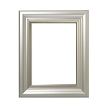 rectangle frame: Silvered Wooden Frame