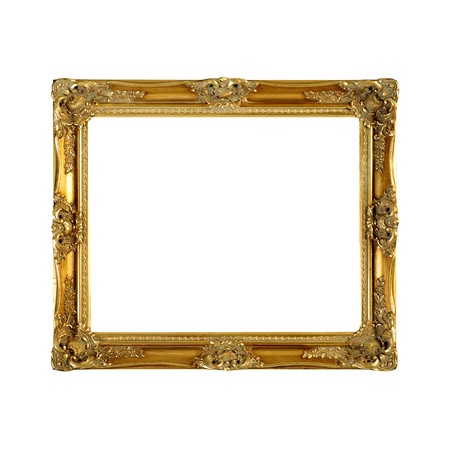 Old gold wooden frame photo