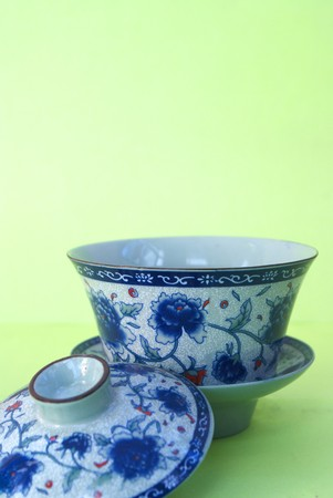 blue and White Cup of tea   photo