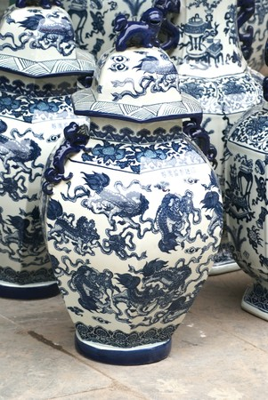 Assortment of porcelain, the Chinese market photo