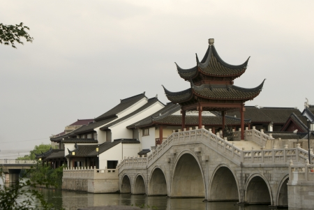 Chinese Classical Architecture,in Suzhou, China Stock Photo