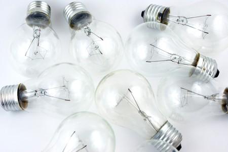A close up on a pile of light bulbs photo