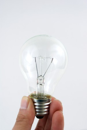 A close up on a light bulb on white Stock Photo - 8177739