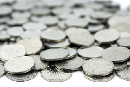 background of A pile of Chinese Coins photo