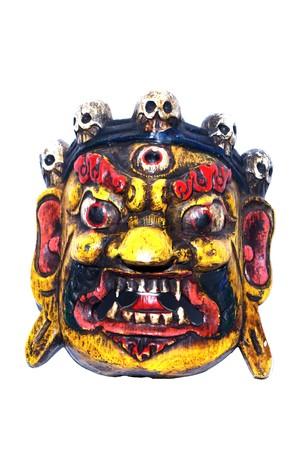 symmetric: Mask of Chinas spirits isolated on white background