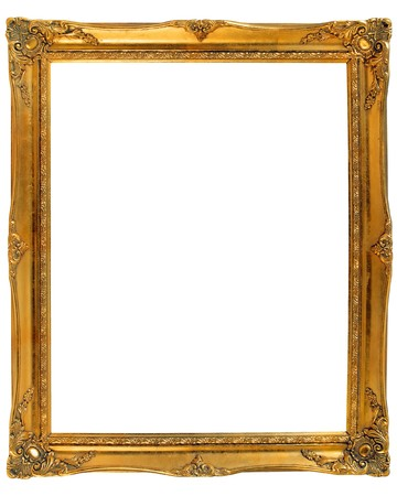 baroque picture frame: Old gold wooden frame