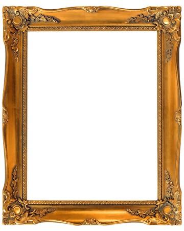 Old gold wooden frame