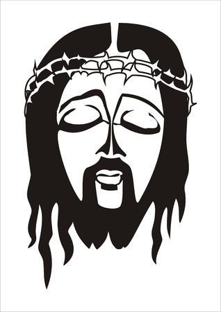 jesus face: Face of Jesus Christ Illustration