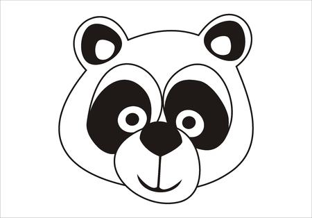 Cute had of a Panda bear vector. Vector