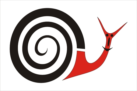 black and red snail character Stock Vector - 6396593