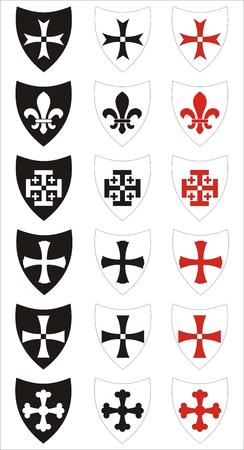 conjunto de símbolos heráldicos