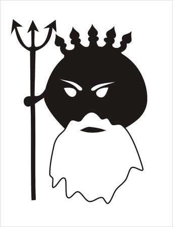 neptuno: representaci�n divertida de Neptuno, el dios del mar