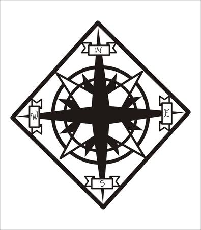 puntos cardinales: Windrose estilizado Vectores