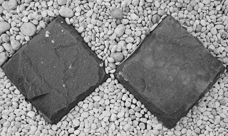 peddle: Picture for background and texture with peddle stone. For decorste Thailand , Black and White color tone