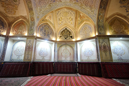 Interior of Sultan Amir Ahmad Historical Bath in Kashan city ,Iran
