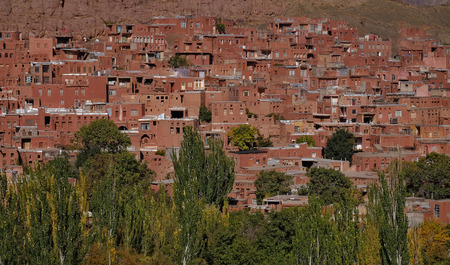 The red village name Abyaneh ,Its UNESCO world heritage site, Iran