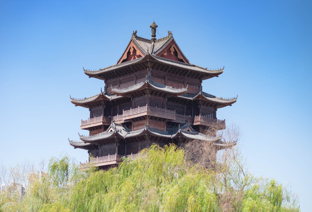 WUHAN, China - SEP 08, 2018: Guiyuan Temple s a Buddhist temple located on Wuhan City, Hubei Province of China. It was built in the 15th year of Shunzhi (1658), Qing Dynasty.