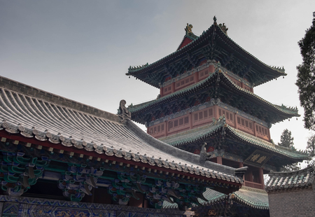 Luoyang, Henan/China- JANUARY 20, 2019: Shaolin temple is a one of the Buddha temple. It's one of the famous place in China. It's located on the Songshan mountain (especially name).