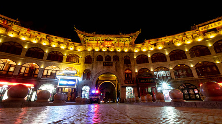 Luoyang, HenanChina- JANUARY 20, 2019: Lijing Gate in Luoyang  located on the central of the Luoyang city and is one of the Four Great Ancient Capitals of China. Editorial