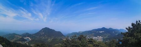 Beautiful mountain with blue sky, It�s name The turtle mountain , located at the Ma Cheng city (Special name in Chinese language), Hubei province. Stock fotó