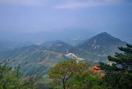 Beautiful mountain with blue sky, It's name The turtle mountain , located at the Ma Cheng city (Special name in Chinese language), Hubei province. Stock fotó