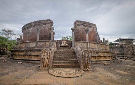 The Polonnaruwa Vatadage - ancient Buddhist structure. Unesco ancient city of Polonnaruwa, one of the destination for travel, Sri Lanka
