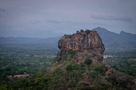 Beautiful vew from Sigiriya Lion Rock, Sri Lanka. View from the Pidurangala mountain.