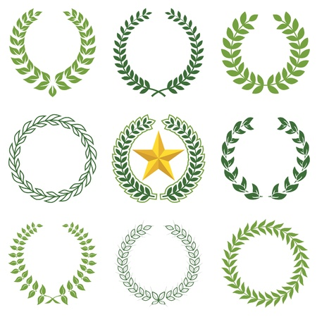 laurel leaf: laurel wreaths