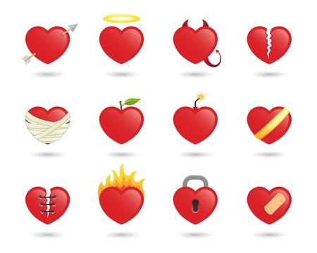 diablo y angel: corazones
