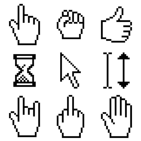 cursor set Vector