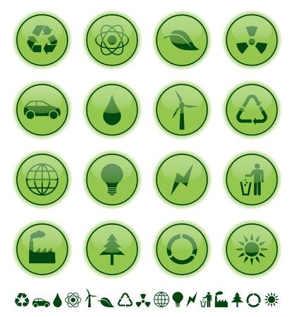environmental icons Stock Vector - 9275411