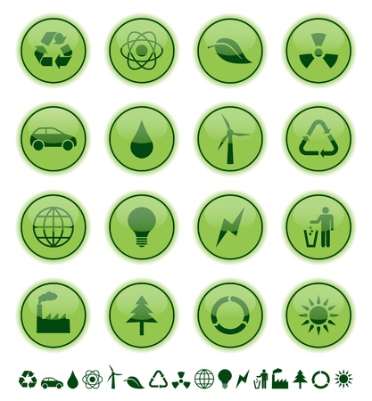 green environment: environmental icons