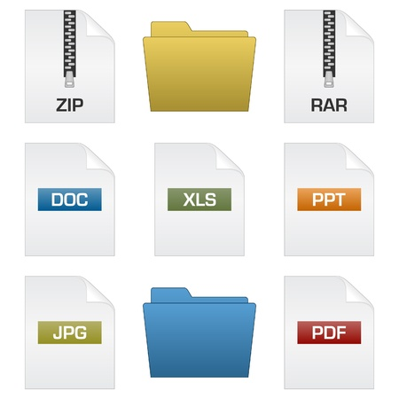 files and folders Stock Vector - 9275399