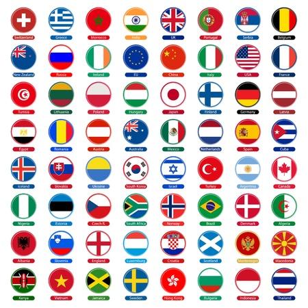 geografia: banderas de iconos