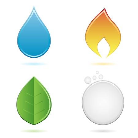 gocce di colore: i quattro elementi