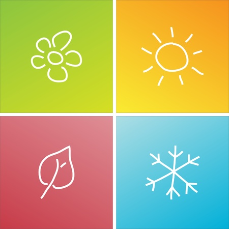 four seasons Stock Vector - 9275410