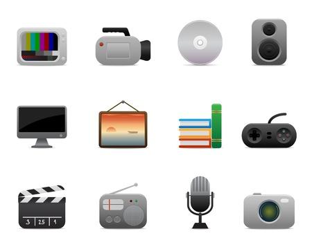 joypad: suavizar la serie > iconos multimedia Vectores