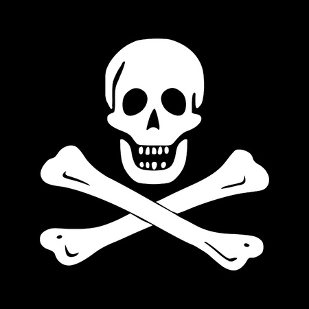 roger: jolly roger (pirate flag)
