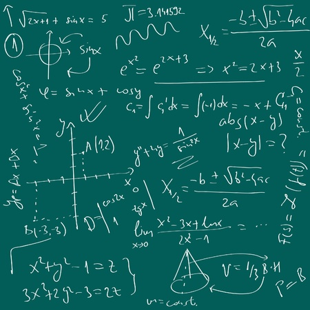 college professor: math background Illustration