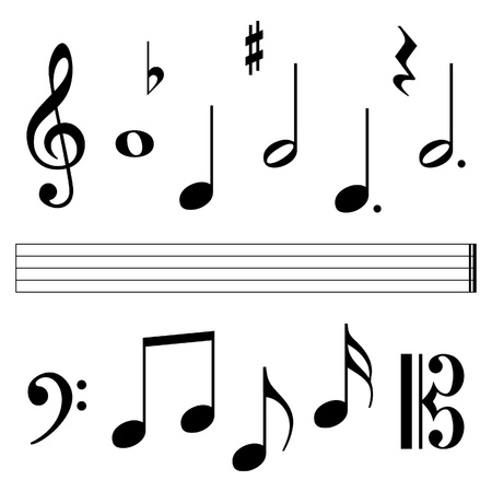 music notation elements Stock Vector - 9275395