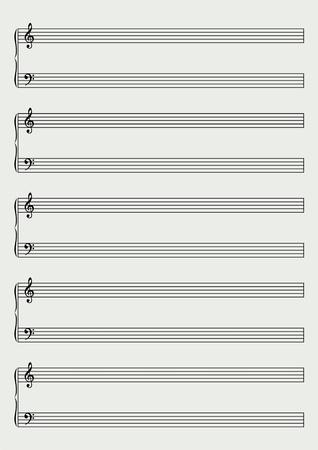 clave de fa: hoja de m�sica de piano