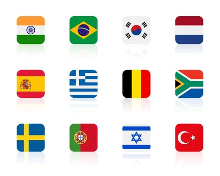 worlds flags 2 | square Vector